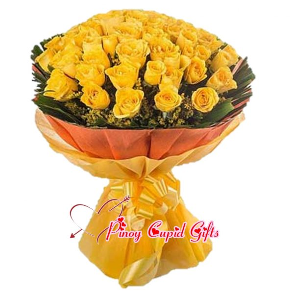 50 imported yellow roses