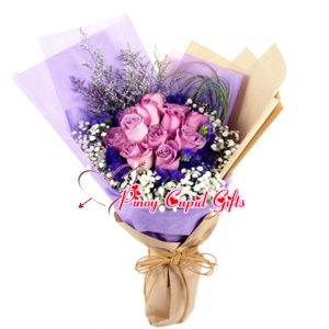 10 Imported Purple Roses