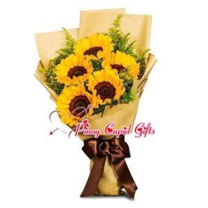 5 pcs Sunflower Bouquet