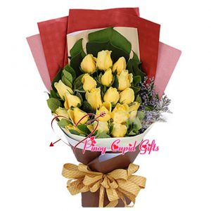 20 Imported Yellow Roses