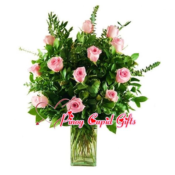 Imported Pink Flower in a Vase