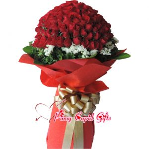 99 Red Roses Bouquet 03