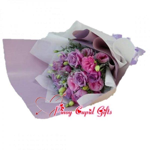 Pink/Purple Eustoma Bouquet
