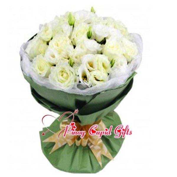 Imported White Eustoma Bouquet