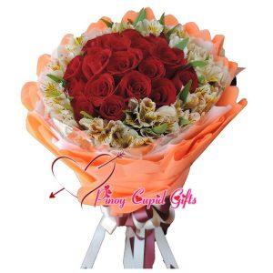2 Dozen Red Roses Bouquet