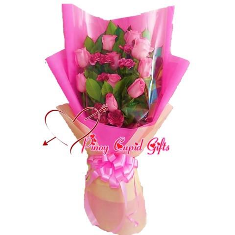 10 Imported Pink Roses
