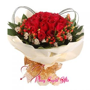 20 Imported Red Roses in a bouquet