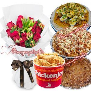 Susie's Cuisine: Palabok, Pampanga Spaghetti, Jollibee Fried Chicken, Cassava Cake, 1 Dozen Roses