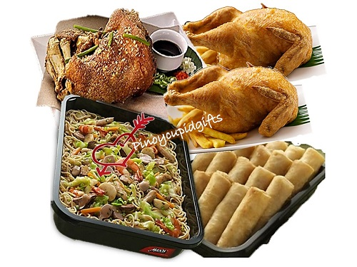 Max's Pancit Canton, Max's Regular Fried Chicken, Max's Regular Crispy Pata, Max's Fried Lumpia Ubod