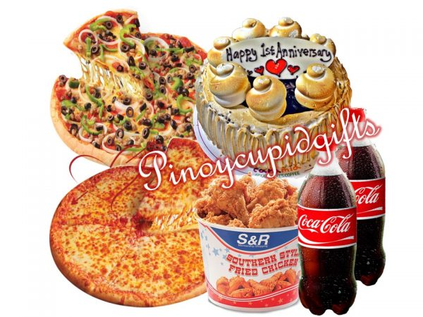 S&R Combo Pizza, S&R Cheese Pizza, S&R Fried Chicken, Caramia Chocolate S'mores, S&R Fried Chicken, Caramia Chocolate S'mores, 2X1.5 Coke