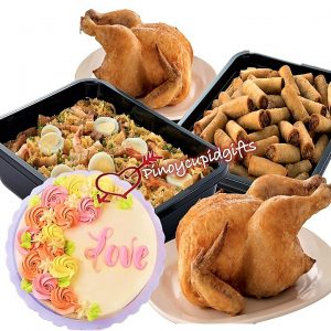 Max's Pancit CantonLarge Tray, Max's Lumpiang Shanghai Tray, Max's Whole Fried Chicken, Max's Message Cake