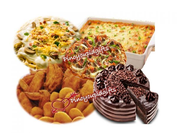 Shakey's Party Size- Managers Choice, Prima Lasagna, Carbonara Supreme, Fried Chicken & Mojo, & Chocolate Indulgence Cake