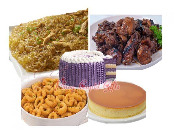 Conti's Sotanghon, Boneless BBQ Chicken, Calamari