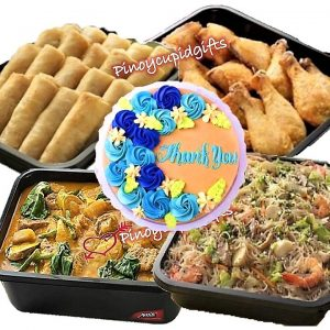 Max's: Pancit Canton Tray-Large, Beef Kare-Kare Tray-Large, Fried Lumpiang Shanghai Tray, Fried Chicken Tray (20pcs), Max's Message Cake