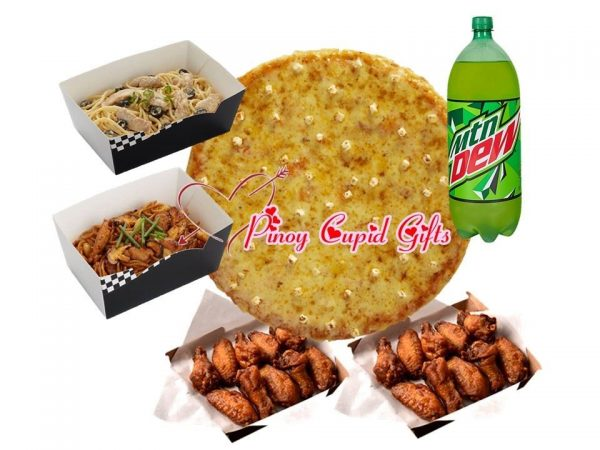 """14"""" Classic Shakey's Pizza, Large Wings, 2 Large Pastas"""