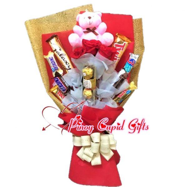 mixed bear & chocolate bouquet