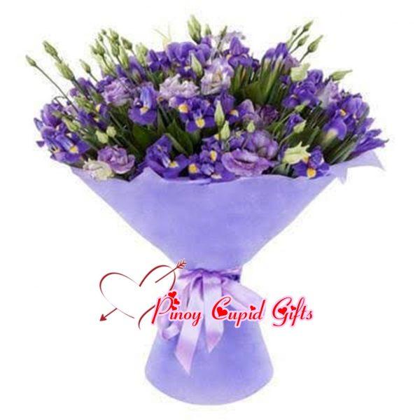Imported Purple Eustoma Bouquet