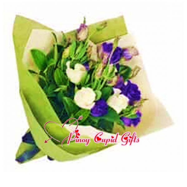 Purple/White Eustoma Bouquet