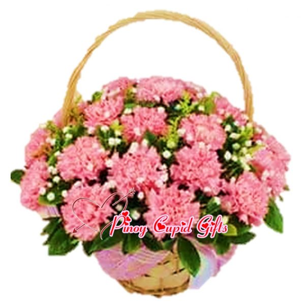 Pink Carnations in a Basket 18