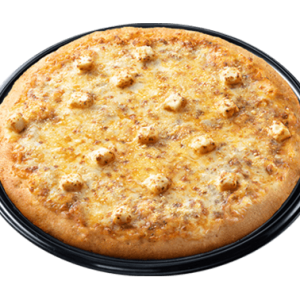 Greenwich Cheese Pizza loaded with: parmesan cheese, mozzarella, cheddar, and cream cheese