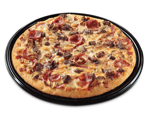 Greenwich pizza topped with premium cuts of meats and cheeses.