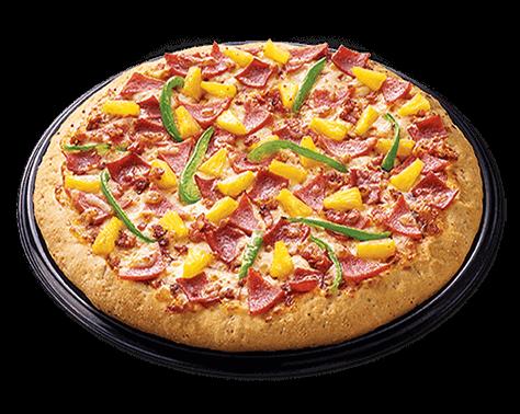Greenwich Hawaiian Regular Overload pizza