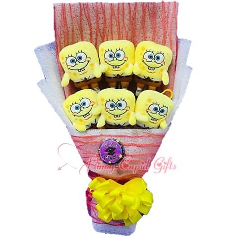 6pcs Stuffed Toy Bouquet