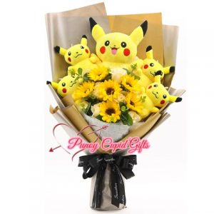 Stuffed Toy Bouquet with sunflowers