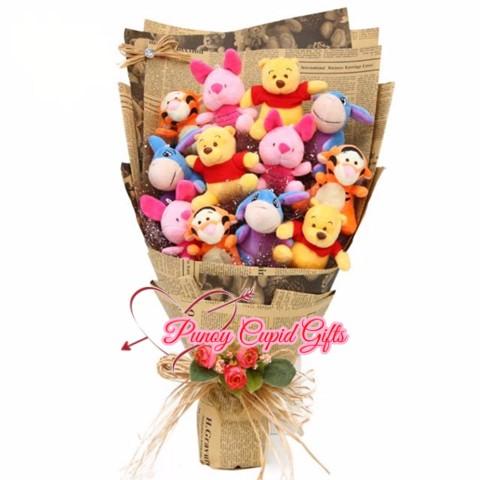 12 pcs assorted mini bear bouquet