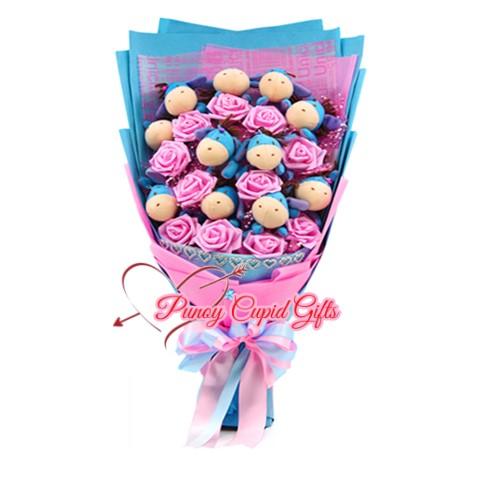 Assorted mini Stuffed Toy Bouquet 16