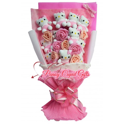 12 pcs HK Stuffed Toy Bouquet with soap roses