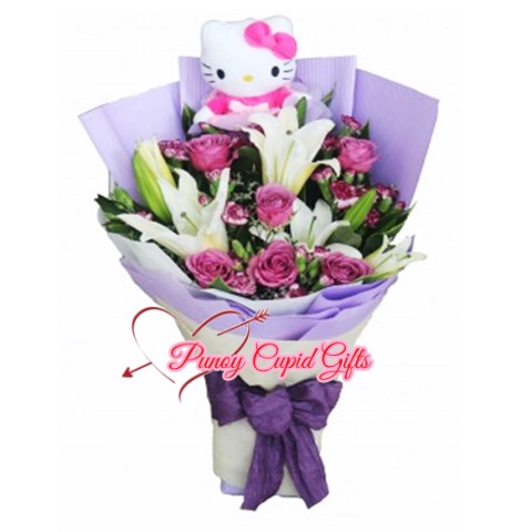 Stargazers with Purple Roses & HK Stuffed Toy