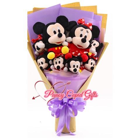 8pcs Stuffed Toy M-Mouse Bouquet