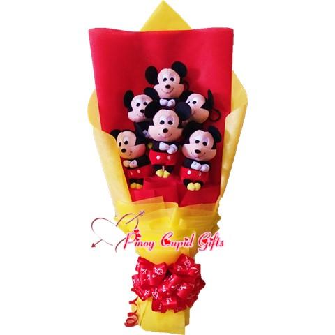 6pcs Stuffed M-Mouse Toy Bouquet