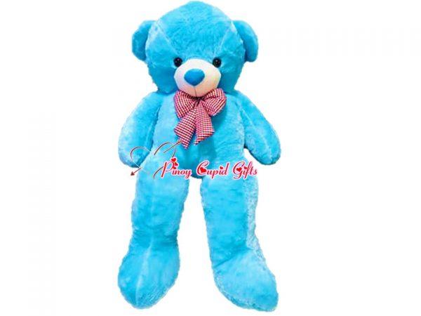 4.5 FT Blue Teddy Bear