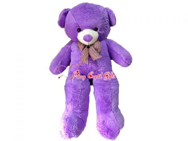 4.5 FT Purple Teddy Bear