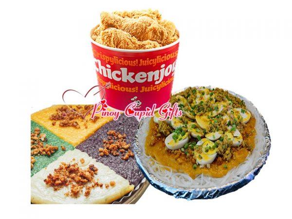 Pancit Palabok-Large, Premium Kakanin, and ChickenJoy 8pcs Bucket