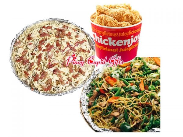 Susie's Cuisine Pancit Canton, Susie's Fettucine Pasta, 1 Bucket Chickenjoy