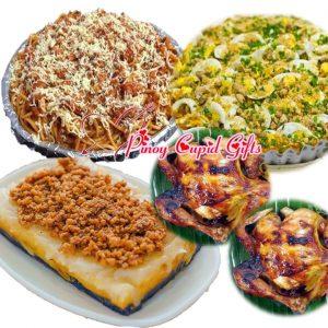 Susie's Cuisine Spaghetti, Pancit Malabon, Sapin-Sapin Bilao, 2 Lechon Manok
