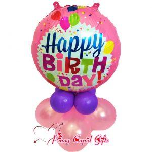 Pink Happy Birthday Mylar Balloons