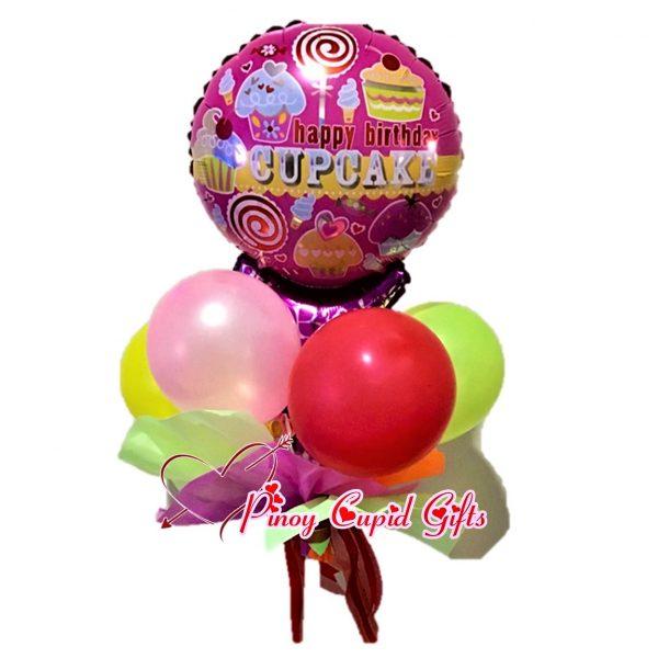 Happy Birthday Cupcake Mylar Balloons