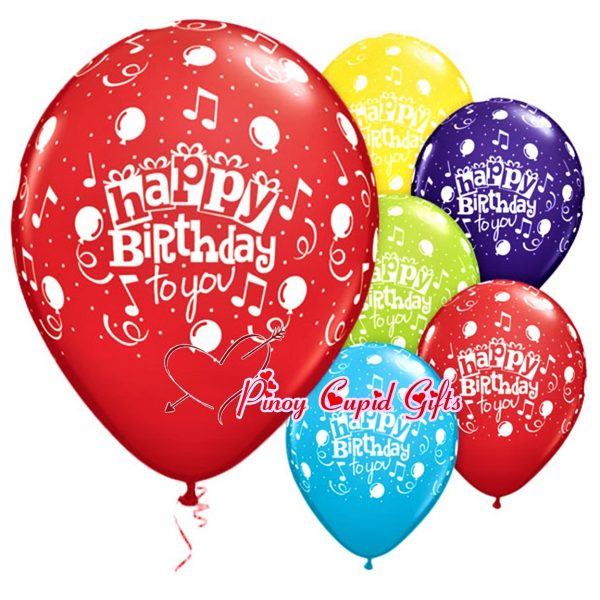 6 Assorted Birthday Balloons