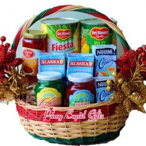 Fruit Salad Basket: Fruit Cockatails, Condensada, Nestle Cream, Cherries, Palm Nuts & Syruppy Cocunut Gel