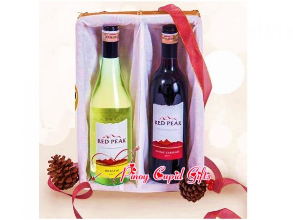 Non-Acholic Holiday Wine Gift Box