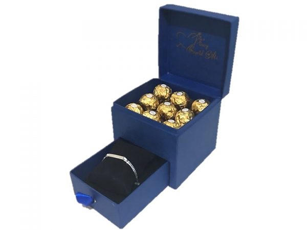 Ferrero Chocolate and Sterling Silver Bracelet in a gift box