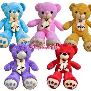 assorted mustache teddy bears