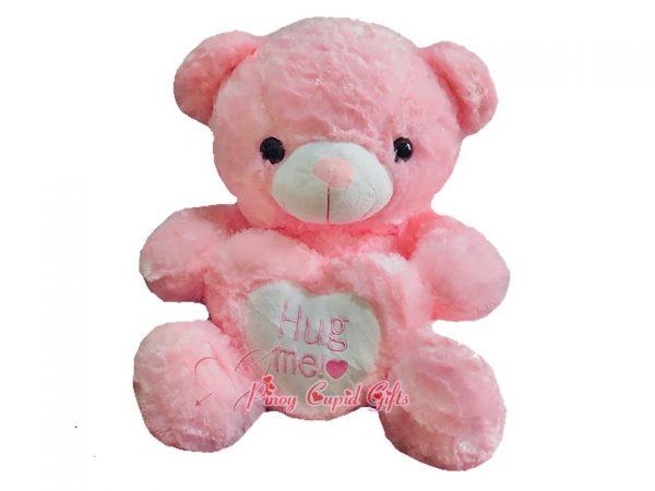 "22"" Hug Me Heart Pink Bear"