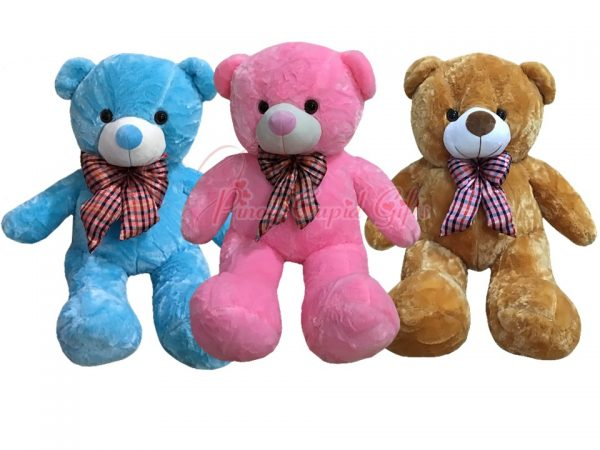3ft teddy bears with neck bow