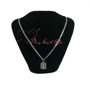 Men's Sterling Silver Dog Tag Necklace