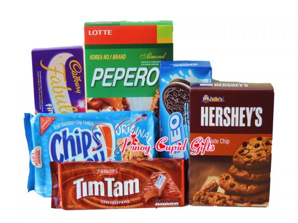 Assorted Cookies Gifts: Hershey, Oreo, Chips Ahoy, Cadbury , Tim Tams, Peppero